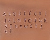 Sculptor 3mm Uppercase Alphabet Letter Set Jewelry Stamping The Urban Beader