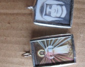 Two Images - Divine Mercy and St Faustina - Catholic Gift - Holy Medal - Pendant - Catholic Art and Jewelry - Jesus - FREE SHIPPING