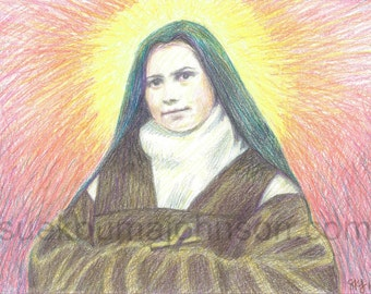 Saint Elizabeth of the Trinity - Carmelite Nun - Catholic Art Print