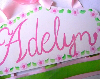 Hair Bow Holder-Pink,Hot Pink,Green Personalized
