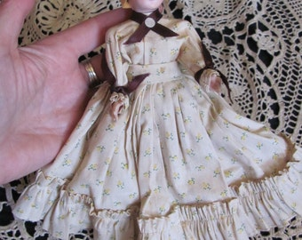 "Antique Little 8"" Inch Collectible Prairie Girl Doll"