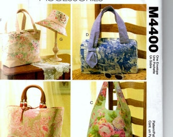 Sewing Pattern, McCall's Laura Ashley Purses, Hand Bags, Accessories, New, Uncut Pattern M4400