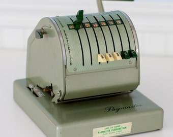 Vintage Office Industrial, the Paymaster Check Writer