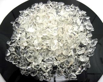 Clear Quartz Mini Chipped Stones 5oz Bag, Crafts, Gemstones, Rock Hound, Healing Crystals, Artisans, Quartz,