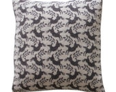 40cm Knitted Lambswool Leaping Deer cushion