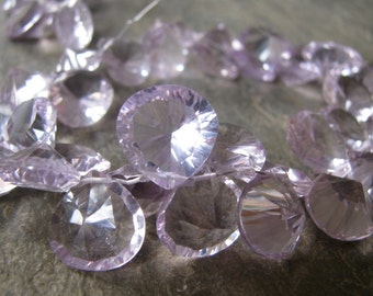 Amazing Quality - Pink Amethyst - Ring Cut - Heart Briolettes  (12k)