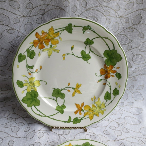 Villeroy and boch geranium dinner plates for Villeroy and boch plates