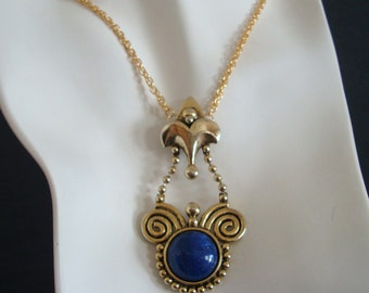 Vintage Repurposed Necklace Or Pendant, Vintage Component, Handmade, USA, Use As Is Or Redesign For Your Or Client