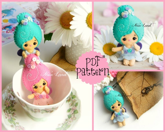 PDF Pattern. Tiny fairies.