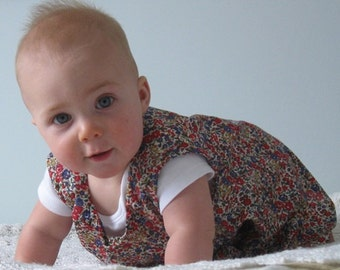 SALE PRICE reduced to 25 dollars.Pretty liberty lawn jumper to suit a 6 month old baby girl