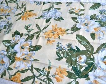 Vintage Pillowcases - Magnolia on Pale Yellow - King Size Pair NOS