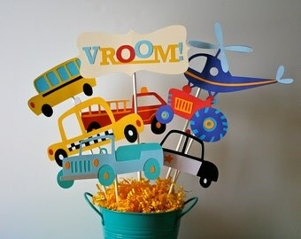 Beep Beep, Transportation,Car Centerpiece/bouquet for a Birthday or any occasion