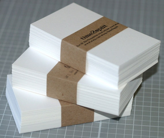 Business card blanks 50 bright white 110 lb square or like this item reheart Gallery