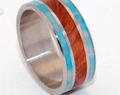 wedding rings, titanium rings, wood rings, mens rings, Titanium Wedding Bands,  Wedding Rings - POCKET OF SERENITY