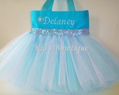 Princess Tutu Bag - Add to your ELSA Disney Frozen Themed Party- Personalized Birthday Gift