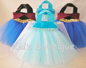 15 Princess Party Bags -  for your Princess Elsa Themed Birthday- Princess Tutu Bags