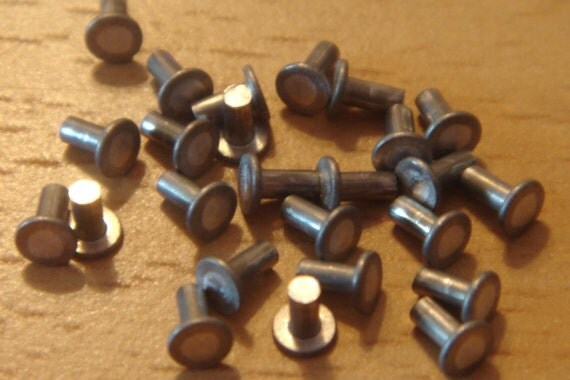 Jewelry rivets 50 pieces rivets 1 16 inch nail head for Rivets for leather jewelry