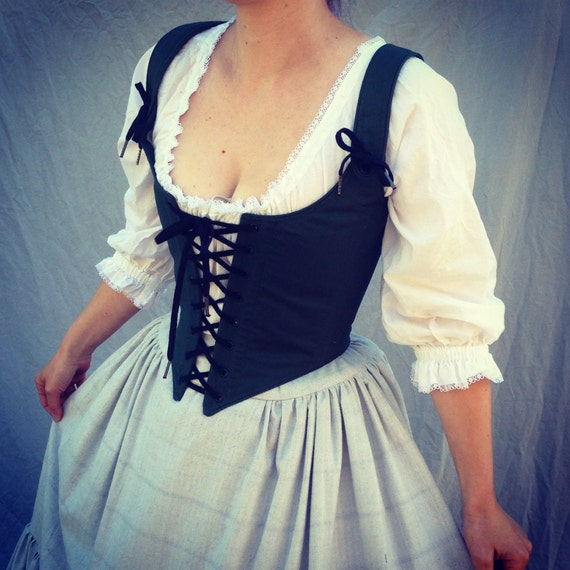 Renaissance Festival Corset Bodice Laces In Front And Back