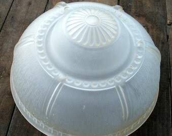 Antique Vintage Art Deco Frosted Satin Textured Glass Ceiling Light Shade