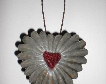Punch Needle Heart Tin