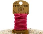 Neon Pink Hemp  1mm,  20lb, Hemp Cord,  6 Meters,  Macrame   Cord -HC120