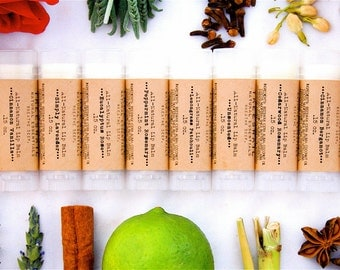 Set of 10 All-Natural Lip Balms - All Natural - Favors - Oval Lip Balm Tube - Stocking Stuffer - Secret Santa