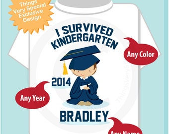Personalized I Survived Kindergarten Shirt Kindergarten