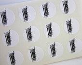 Vintage Car Stickers One Inch Round Seals