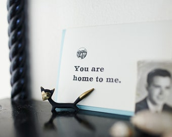 You Are Home to Me - Letterpress Card