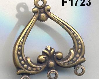 Vintage Antiqued Filigree Findings,Hoops, 4 Styles, American Made F257. F889. F1706.F1723 *