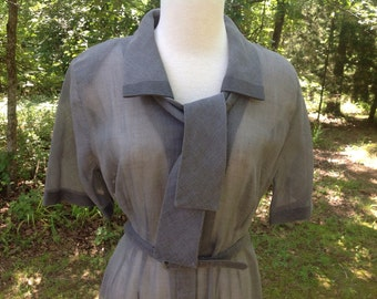 Vintage Day Dress 1950s Size Large