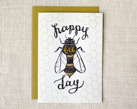 Birthday Card - Bee Day