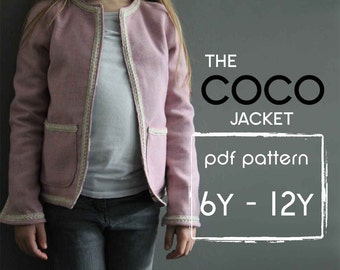Coco Jacket pattern and tutorial 6-12y  holiday jacket  coat bolero PDF