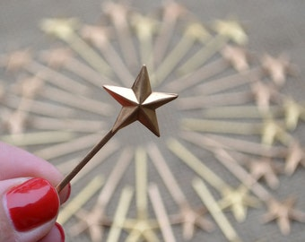 50 miniature metal magic wish fairy star wands