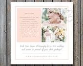 Sale! Wedding Photographer Marketing Template - Photo Marketing Design - Square Flyer for Facebook & Blogs - m0027