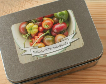 Heirloom Tomato Seed Gift Set in Tin Box