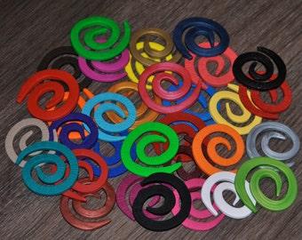 Spiral Twist Shawl Pins - Hand made Polymer Clay