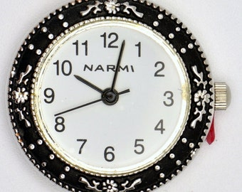 Flowery White Watch Face | Ladies Watch Face | Round Watch Face | Womens Watch Face | Beading Watch Face | Silver Watch Face - WF00118