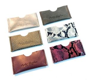 Business Leather Card Holder / Credit Card Case / Leather Card Wallet / Man Small wallet  / Woman Small Wallet