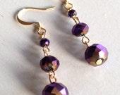 Regal Drops (handmade beaded earrings )