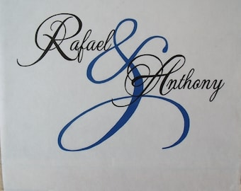 Personalized Custom Monogram Wedding Aisle Runner Ceremony Wedding Isle Runner 50 Foot Decoration White
