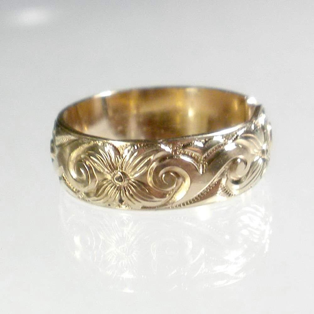 gold band ring wide band ring adjustable ring patterned. Black Bedroom Furniture Sets. Home Design Ideas