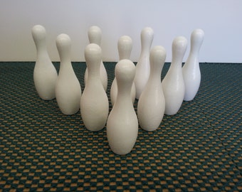 "3"" White Mini Bowling Pin Set"