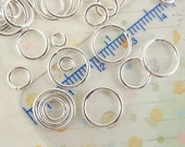 100 Soldered Closed Silver Plated Jump Rings - Best Commercially Made - 20 gauge 4mm OD, 18 gauge 6mm, 8mm, 10mm OD - 100% Guarantee
