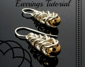 Graduated Box Earrings Chainmaille Tutorial PDF