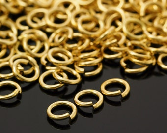 100 Handmade Rich Low Brass Jump Rings - Your Choice of Gauge 10, 12, 14, 16, 18, 20, 22, 24, 24 and Diameter
