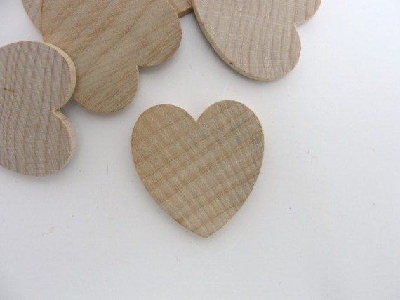 50 Wooden Hearts 1 1 4 Inch 1 25 Quot Wide 1 8 Inch Thick