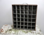 Vintage slide holder drawer knick knack shelf, industrial chic knick knack shelf