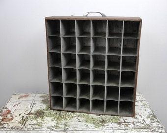 Vintage slide holder drawer knick knack shelf, industrial chic knick knack shelf