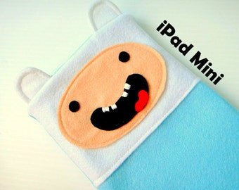Felt iPad Mini Sleeve / Case - Finn Adventure Time